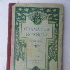 Libros antiguos: LIBRO - GRAMÁTICA ESPAÑOLA 2º GRADO -. AÑO 1927. Lote 35688213