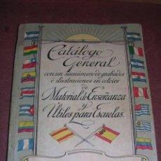 Libros antiguos: LIBRO CATALOGO GENERAL DE MATERIAL DE ENSEÑANZA Y UTILES PARA ESCUELA 1907 LIBRERIA NACIONAL Y EXTRA. Lote 36438243