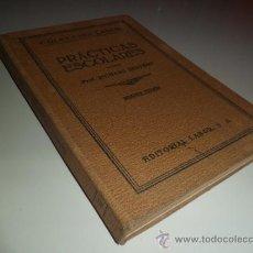 Libros antiguos: PRÁCTICAS ESCOLARES - RICHARD SEYFERT (1929). Lote 38471007
