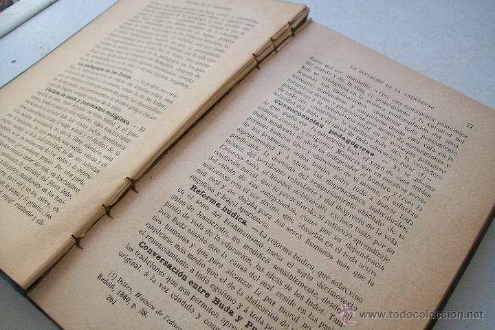 Libros antiguos: HISTORIA DE LA PEDAGOGÍA- GABRIEL COMPAYRÉ-S/F-HERNANDO Y Cª. IMPRESOR LIBRERO DE LA REAL- - Foto 6 - 39885017