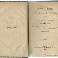 Libros antiguos: CURSO ELEMENTAL DE PEDAGOGÍA. Lote 41585332