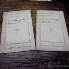 Libros antiguos: 3152.- PEDAGOGIA-EL CAMPO ESCOLAR AGRICOLA-AGUSTIN NOGUES SARDA. Lote 41721420