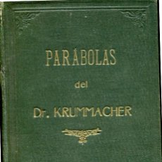 Libros antiguos: 1874: PARÁBOLAS DEL DR. KRUMMACHER. Lote 42641513