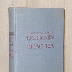 Libros antiguos: LECCIONES DE DIDÁCTICA Y RECUERDOS DE EXPERIENCIA DOCENTE. Lote 43595756