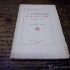Libros antiguos: 3306.- LA ENSEÑANZA EN CASTELLON-LUIS REVEST. Lote 43664927