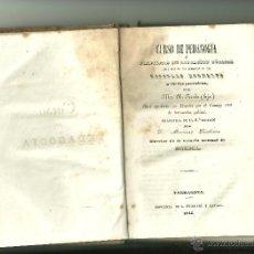 Libros antiguos: 930.- CURSO DE PEDAGOGIA O PRINCIPIOS DE EDUCACION PUBLICA-RENDU. Lote 43883328