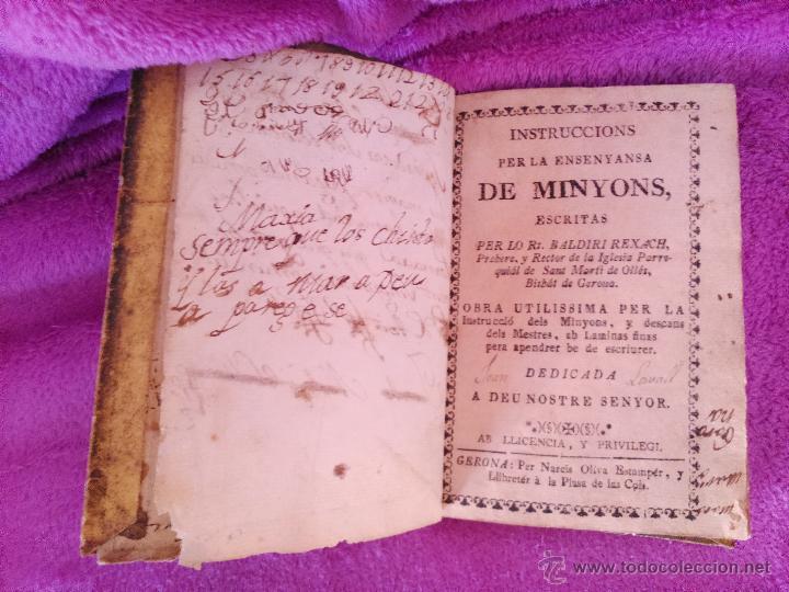 Libros antiguos: INSTRUCCIONS PER LENSENYANSA DE MINYONS, RT. BALDIRI RESACH 1748 - Foto 2 - 44767039