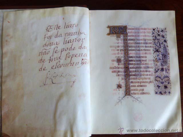 LIBRO DE HORAS DE LA REINA DOÑA LEONOR DE PORTUGAL (Libros Antiguos, Raros y Curiosos - Ciencias, Manuales y Oficios - Pedagogía)