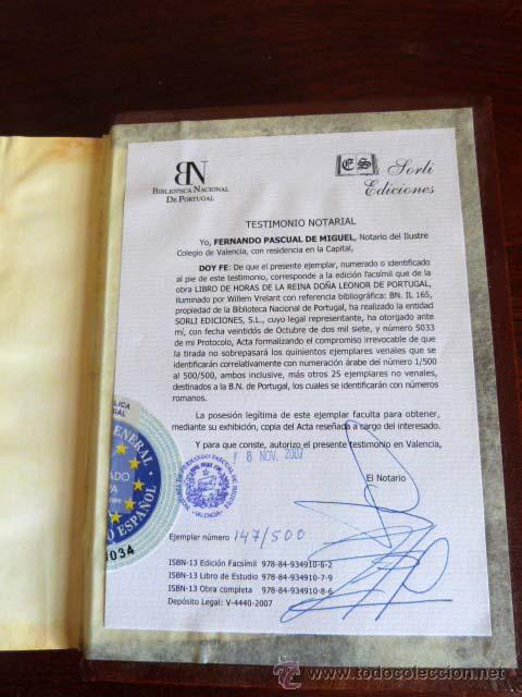 Libros antiguos: Libro de Horas de la Reina Doña Leonor de Portugal - Foto 3 - 46446037