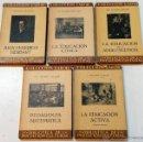 Libros antiguos: LOTE 5 LIBROS PEDAGOGIA COLECCION LABOR. BIBLIOTECA INICIACION CULTURAL. VER DESCRIPCION E TITULOS.. Lote 47355656