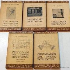 Libros antiguos: LOTE 5 LIBROS PEDAGOGIA COLECCION LABOR. BIBLIOTECA INICIACION CULTURAL. VER DESCRIPCION E TITULOS.. Lote 47355754