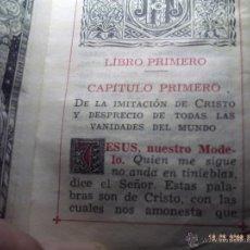 Libros antiguos: PEQUEÑO LIBRO IMITACION DE CRISTO DEL AÑO 1947. MIDE 90 X 65 MM. GRUESO LOMO 20 MM. BUEN ESTADO.. Lote 48010409