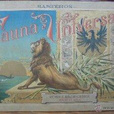 Libros antiguos: FAUNA UNIVERSAL: MAMÍFEROS. ÁLBUM DE ZOOLOGÍA PARA INSTRUCCIÓN RECREATIVA DE LOS NIÑOS. (C. 1890).. Lote 48300375