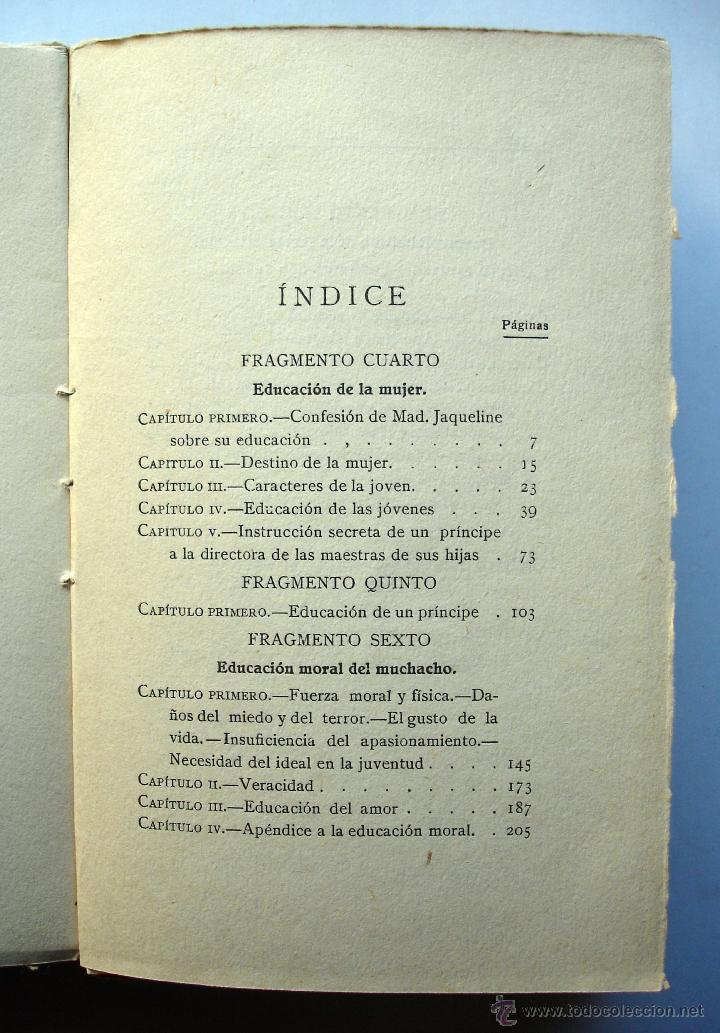 Libros antiguos: Levana o Teoría de la Educación. Tomo II, de Juan Pablo Richter. Ed. De la Lectura, años 20. - Foto 3 - 48367582