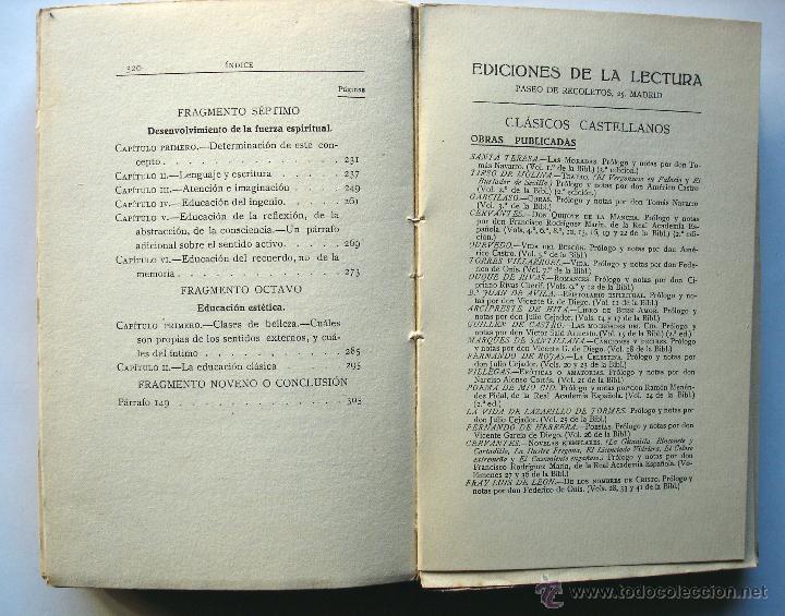 Libros antiguos: Levana o Teoría de la Educación. Tomo II, de Juan Pablo Richter. Ed. De la Lectura, años 20. - Foto 4 - 48367582