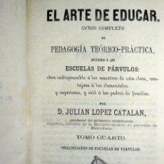Libros antiguos: EL ARTE DE EDUCAR ESCUELAS DE PÁRVULOS JULIÁN LÓPEZ BASTINOS 1867 . Lote 48681618