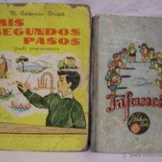 Libros antiguos: ANTIGUOS LIBROS ESCOLARES - INFANCIA + MIS SEGUNDOS PASOS - 2 LIBROS AÑOS 60. Lote 49600510