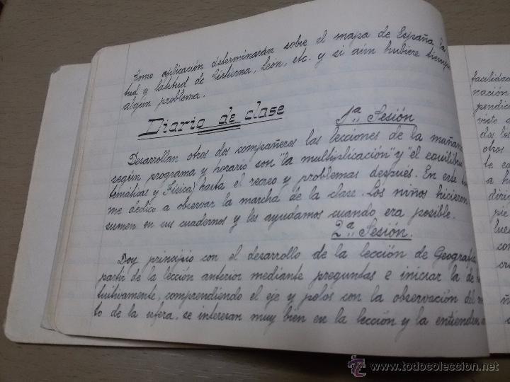 Libros antiguos: ÚNICO DIARIO DE CLASE DE UN MAESTRO DE LA REPÚBLICA EN LOS CURSILLOS DE SELECCIÓN.1933 - Foto 8 - 49627074