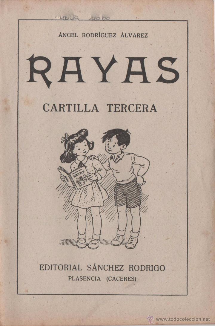 RAYAS CARTILLA TERCERA 1958 (Libros Antiguos, Raros y Curiosos - Ciencias, Manuales y Oficios - Pedagogía)
