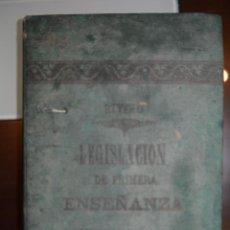 Libros antiguos: TRATADO DE LA LEGISLACION DE PRIMERA ENSEÑANZA VIGENTE EN ESPAÑA. 1884. AUTOR: PEDRO FERRER Y RIVERO. Lote 51634803