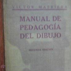 Libros antiguos: MANUAL DE PEDAGOGÍA DEL DIBUJO, VÍCTOR MASRIERA, ED. HERNANDO, 1917. Lote 54667699