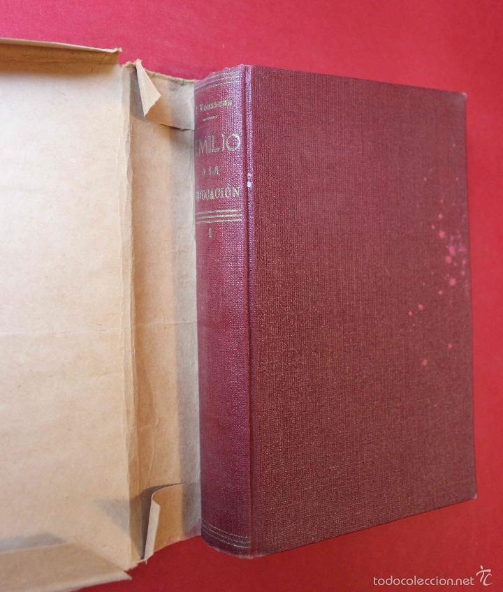 Libros antiguos: Emilio o la Educación. Tomo 1 Juan Jacobo Rousseau. De PATRONATO DE MISIONES PEDAGOGICAS, 1916 único - Foto 2 - 56644492
