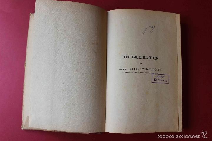 Libros antiguos: Emilio o la Educación. Tomo 1 Juan Jacobo Rousseau. De PATRONATO DE MISIONES PEDAGOGICAS, 1916 único - Foto 3 - 56644492