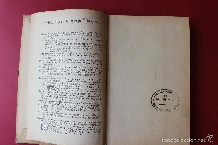 Libros antiguos: Emilio o la Educación. Tomo 1 Juan Jacobo Rousseau. De PATRONATO DE MISIONES PEDAGOGICAS, 1916 único - Foto 4 - 56644492
