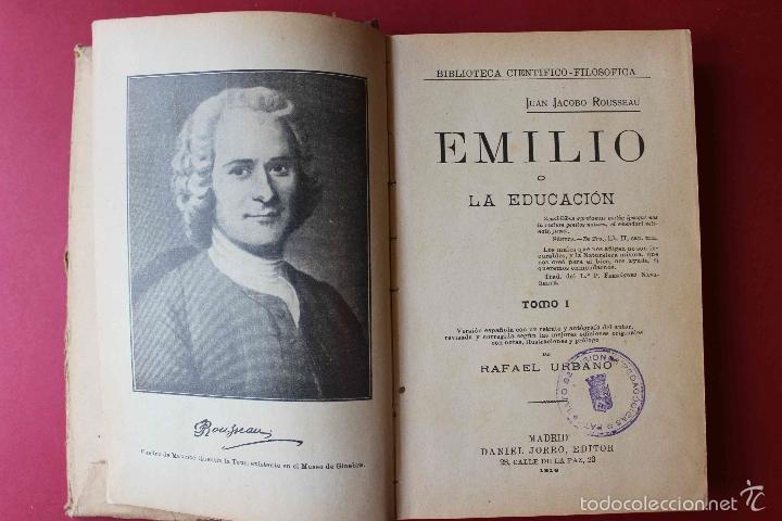 Libros antiguos: Emilio o la Educación. Tomo 1 Juan Jacobo Rousseau. De PATRONATO DE MISIONES PEDAGOGICAS, 1916 único - Foto 5 - 56644492