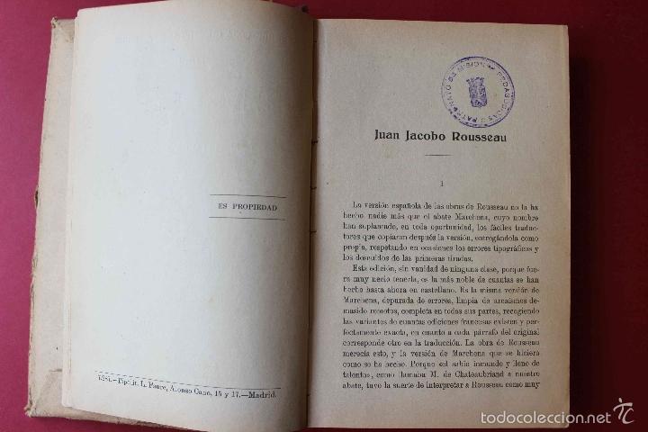 Libros antiguos: Emilio o la Educación. Tomo 1 Juan Jacobo Rousseau. De PATRONATO DE MISIONES PEDAGOGICAS, 1916 único - Foto 6 - 56644492