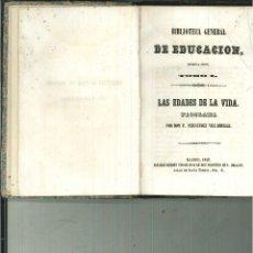 BIBLIOTECA GENERAL DE EDUCACION. PRIMERA SERIE: TOMOS I-II-III. F. Fernández Villaverde