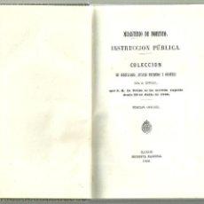 Libros antiguos: 2325.-PEDAGOGIA-INSTRUCCION PUBLICA-CIRCULARES,REALES DECRETOS Y ORDENES. Lote 58012379
