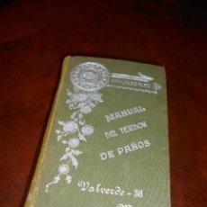 Libros antiguos: LIBRO ANTIGUO MANUAL DE TEJEDOR DE PAÑOS. MANUALES ALEU 1884.SOCIEDAD MATRITENSE AMIGOS DEL PAIS. Lote 62462616