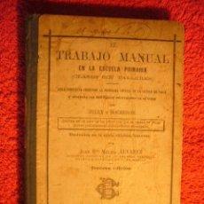 Libros antiguos: JULLY - BOCHERON: - EL TRABAJO MANUAL EN LA ESCUELA PRIMARIA - (PARIS, 1903). Lote 65990390