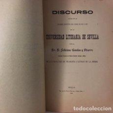 Libros antiguos: CANDAU Y PIZARRO: CAUSAS DE LA DECADENCIA DE LA UNIVERSIDAD... (SEVILLA, 1912) . Lote 67996213