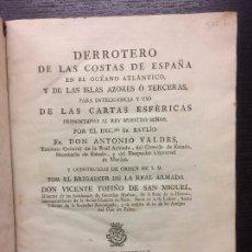 Libros antiguos: DERROTERO DE LAS COSTAS DE ESPAÑA EN EL OCEANO ATLANTICO, ANTONIO VALDES, VICENTE TOFIÑO, 1789. Lote 68492497