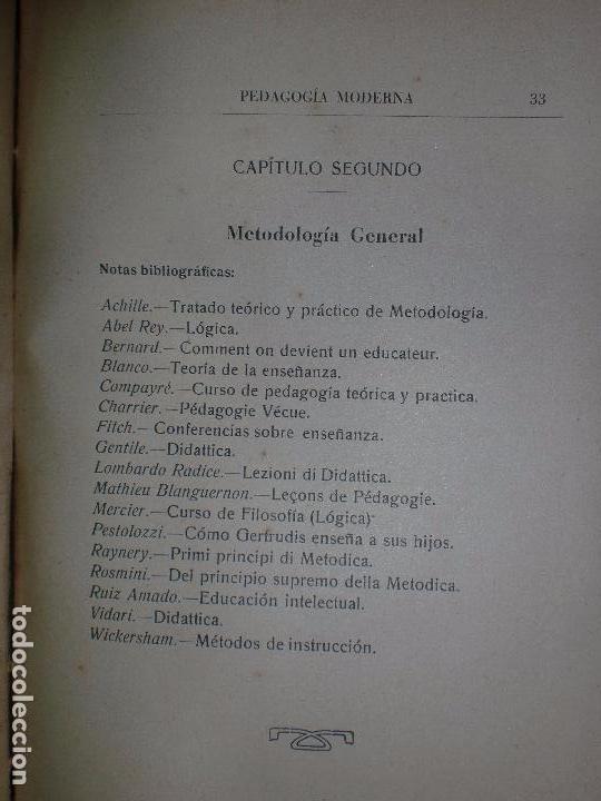 Libros antiguos: PEDAGOGÍA MODERNA. TOMO II. TRATADO DE LA ENSEÑANZA. MALAGA. IMPRENTA R. ALCALÁ. 1932. 336PAGS - Foto 2 - 68684969