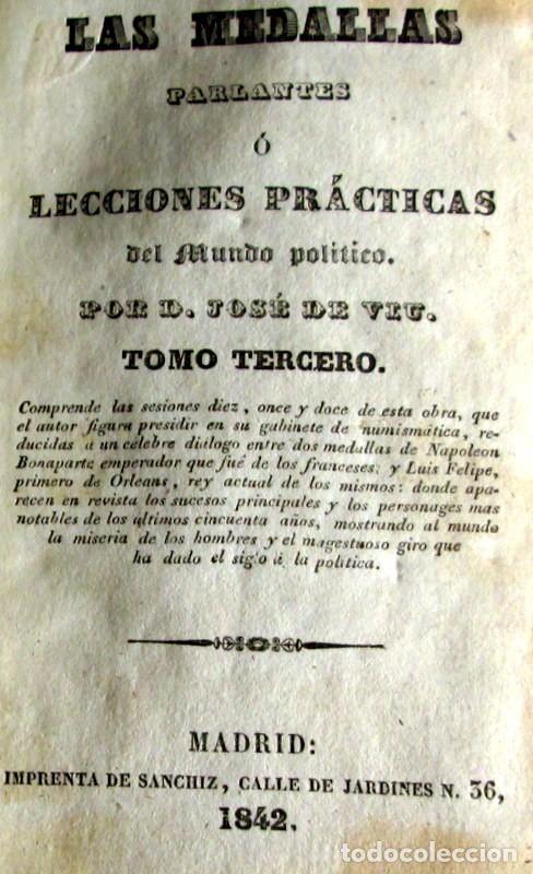 Libros antiguos: LAS MEDALLAS PARLANTES - JOSE DE VIU - Foto 4 - 73474943