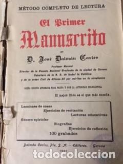 Libros antiguos: EL PRIMER MANUSCRITO, POR D. JOSÉ DALMAU CARLES.1922 - Foto 2 - 73616367