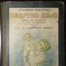 Libros antiguos: NUESTRO HIJO. LIBRO PARA MADRES Y NIÑERAS POR J. LANGTON HEWER.. Lote 80665218