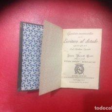 Libros antiguos: EJERCICIOS MANUSCRITOS PARA LA ESCRITURA AL DICTADO / J. BOSCH. GERONA : DALMAU CARLES, 1917. Lote 81007512