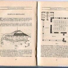 Libros antiguos: QUADERNS D'ESTUDI MANCOMUNITAT ANY 1915 COM CONSTRUIR UNA ESCOLA EDIFICI NEBOT FALGUERA FLORENSA. Lote 81059996