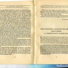 Libros antiguos: LLIBRE QUADERNS D'ESTUDI ANY 1915 QVADERNS D'ESTVDI METODE PEDAGOGIC MONTESSORI VETERINARIA. Lote 81060708