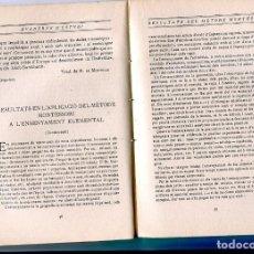 Libros antiguos: LLIBRE PEDAGOGIA ANY 1916 GEORG BRANDES METODE METODO MONTESSORI ENSENYAMENT ELEMENTAL. Lote 204520701