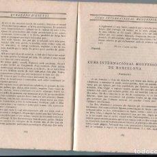Libros antiguos: LLIBRE ANY 1916 PEDAGOGIA CURS INTERNANCIONAL METODE METODO MONTESSORI DE BARCELONA. Lote 204520476