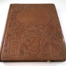 Libros antiguos: ANUARIO INSTITUTO LLORENTE. ARTE ORIGINAL 1942 CIENCIAS JACINTO MEGIAS CUERO POLICROMIA CANTO DORADO. Lote 81962932