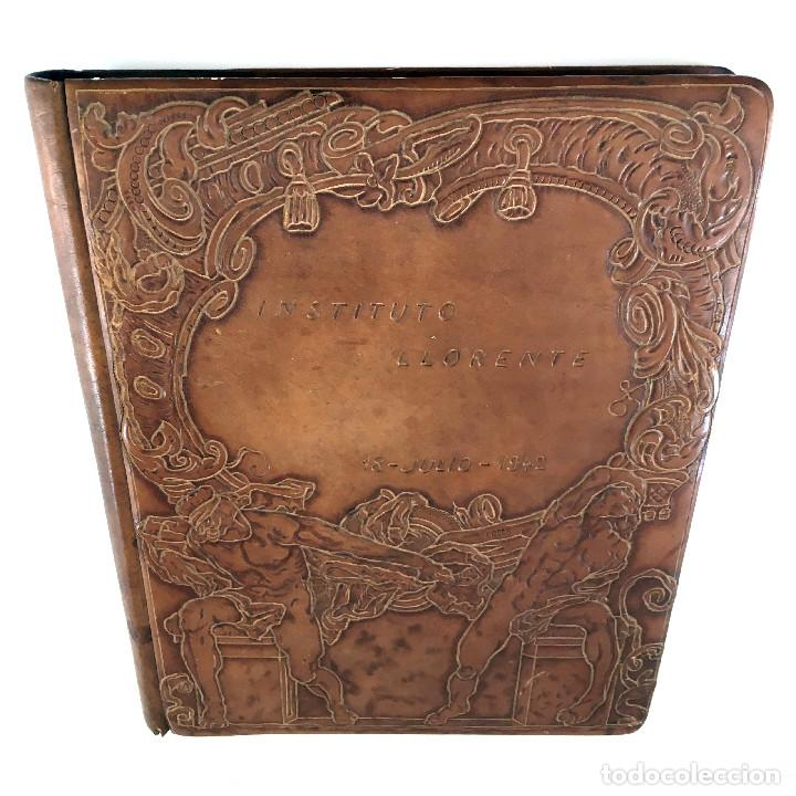 Libros antiguos: ANUARIO INSTITUTO LLORENTE. ARTE ORIGINAL 1942 CIENCIAS JACINTO MEGIAS CUERO POLICROMIA CANTO DORADO - Foto 9 - 81962932