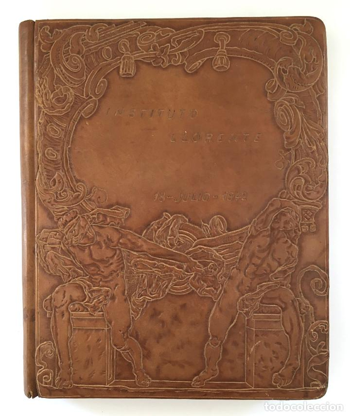Libros antiguos: ANUARIO INSTITUTO LLORENTE. ARTE ORIGINAL 1942 CIENCIAS JACINTO MEGIAS CUERO POLICROMIA CANTO DORADO - Foto 13 - 81962932
