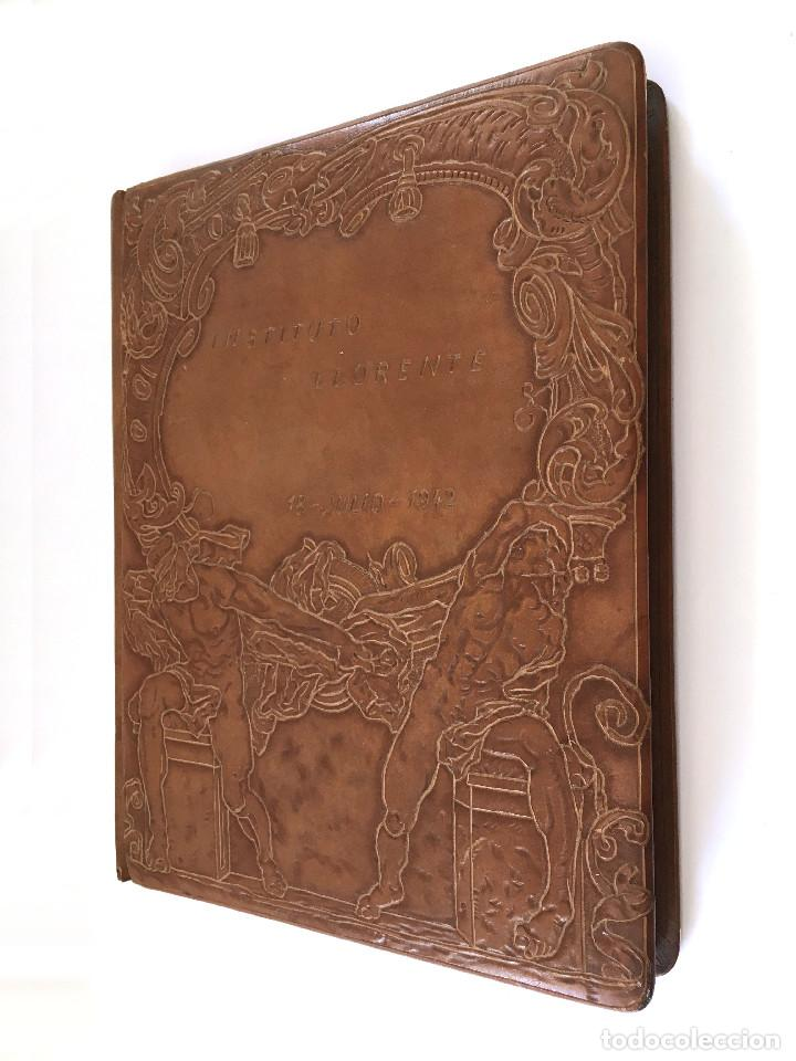 Libros antiguos: ANUARIO INSTITUTO LLORENTE. ARTE ORIGINAL 1942 CIENCIAS JACINTO MEGIAS CUERO POLICROMIA CANTO DORADO - Foto 16 - 81962932