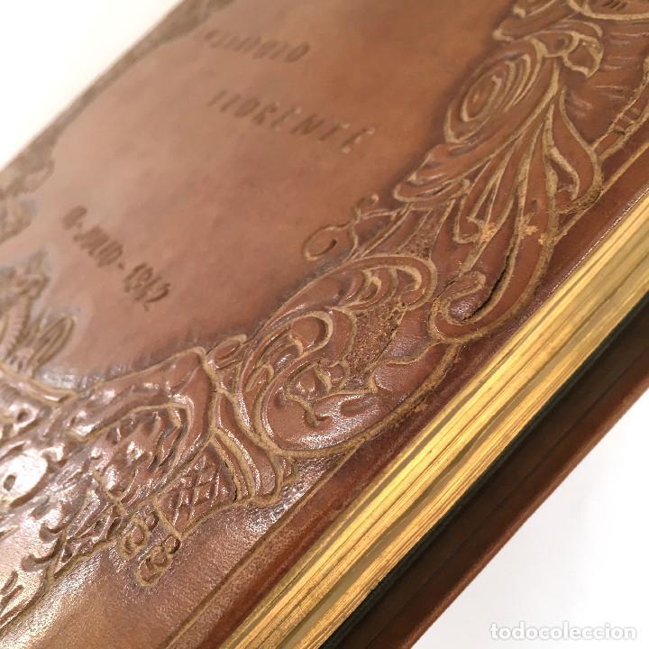 Libros antiguos: ANUARIO INSTITUTO LLORENTE. ARTE ORIGINAL 1942 CIENCIAS JACINTO MEGIAS CUERO POLICROMIA CANTO DORADO - Foto 18 - 81962932